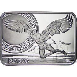 ICARUS How Man Conquered Skies Серебро Монета 1$ Ниуэ 2010