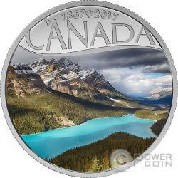 PEYTO LAKE Lago 150 Anniversario Moneta Argento 10$ Canada 2017