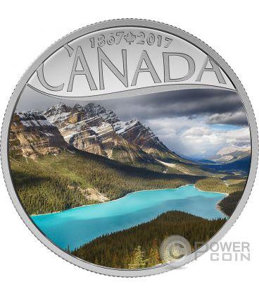 PEYTO LAKE Celebrating 150th Anniversary Silver Coin 10$ Canada 2017