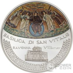 BASILICA SAN VITALE Wonderful Mosaics 1 Oz Moneta Argento 5$ Cook Islands 2017