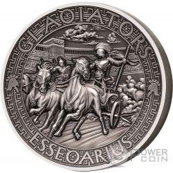 ESSEDARIUS Gladiators 2 Oz Silver Coin 5$ Solomon Islands 2017