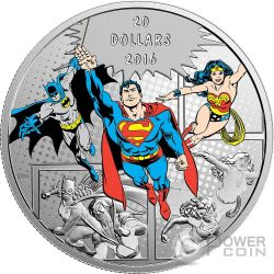 TRINITY DC Comics Originals 1 Oz Silver Coin 20$ Canada 2016