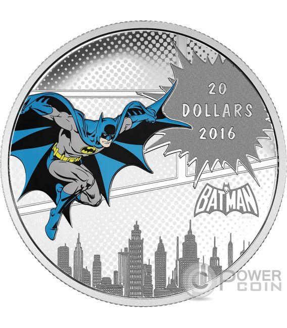 DARK KNIGHT DC Comics Originals 1 Oz Silver Coin 20$ Canada 2016