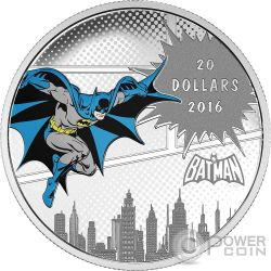 DARK KNIGHT DC Comics Originals 1 Oz Moneta Argento 20$ Canada 2016