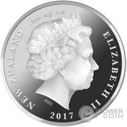 BRITISH AND IRISH LIONS Leoni Britannici Irlandesi Tour 1 Oz Moneta Argento 1$ New Zealand 2017