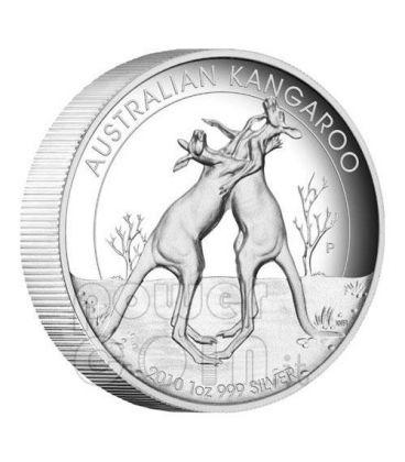 CANGURO ALTI RILIEVI Moneta Argento 1$ Australia 2010