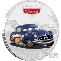 DOC HUDSON Cars Disney 1 Oz Silver Coin 2$ Niue 2017