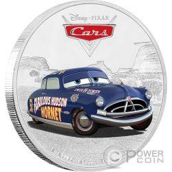 DOC HUDSON Dottor Cars Disney 1 Oz Moneta Argento 2$ Niue 2017