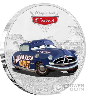 DOC HUDSON Cars Disney 1 Oz Silver Coin 2$ Niue 2017