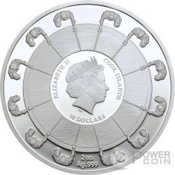 GUINEVERE Ginevra Camelot Knights Round Table 2 Oz Moneta Argento 10$ Cook Islands 2016
