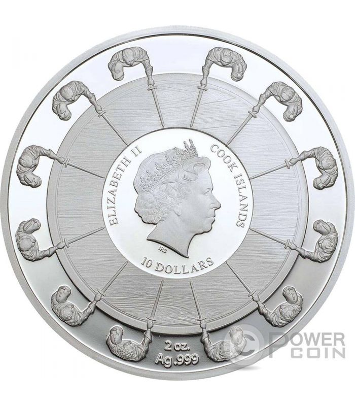 Guinevere Camelot Knights Round Table 2 Oz Silver Coin 10