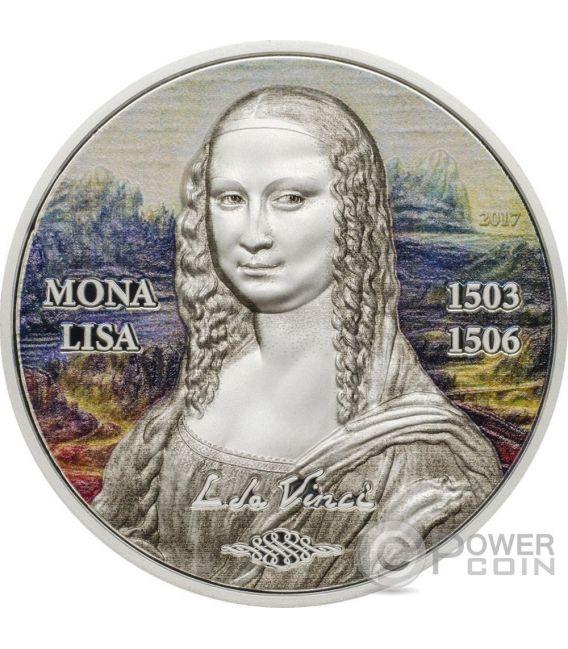 MONA LISA Gioconda Art Revived 1 Oz Silver Coin 5$ Palau 2017