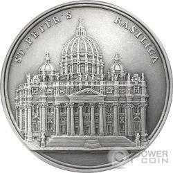 ST PETERS BASILICA San Pietro Mauquoy Moneta Argento 1500 Franchi Benin 2017