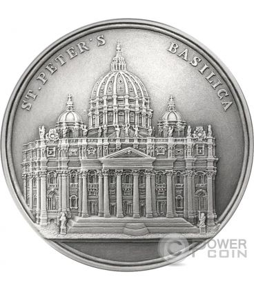 ST PETERS BASILICA Mauquoy Silver Coin 2000 Francs Benin 2016