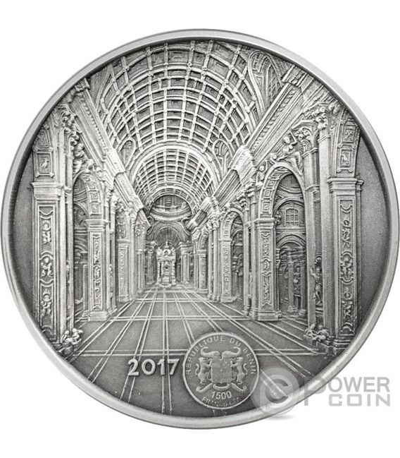 ST PETERS BASILICA Mauquoy Silver Coin 1500 Francs Benin 2017
