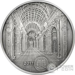 ST PETERS BASILICA San Pedro Mauquoy Moneda Plata 1500 Francos Benin 2017