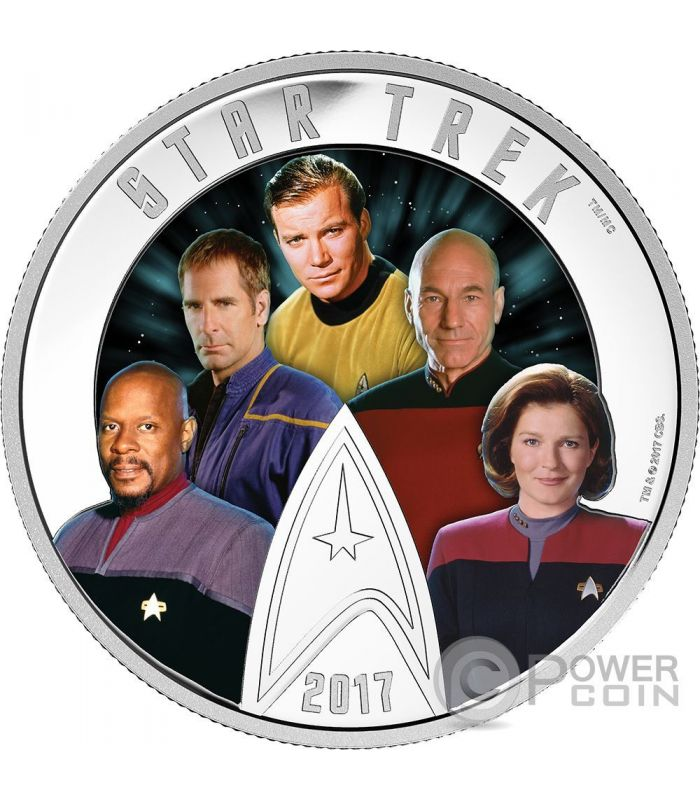 Five Captains Star Trek Glow In The Dark 2 Oz Silber Münze 30