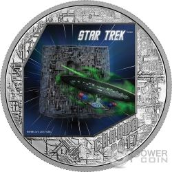BORG Star Trek 1 Oz Moneta Argento 20$ Canada 2017