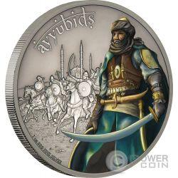 AYYUBIDS Ayyubies Warriors of History 1 Oz Moneda Plata 2$ Niue 2017