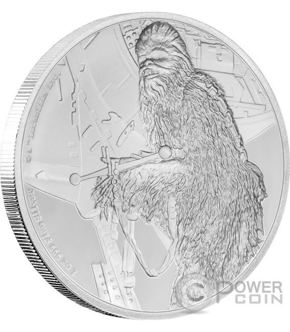 CHEWBACCA Star Wars Classic 1 Oz Silber Münze 2$ Niue 2017