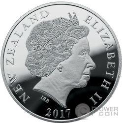 SOUTHERN LIGHTS Aurora Australis 1 Oz Серебро Монета 1$ Новая Зеландия  2017