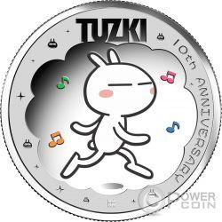 TUZKI 10th Anniversary Silver Coin 1$ Tuvalu 2017