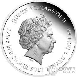 TUZKI Lunar Signo del Gallo Moneda Plata 1$ Tuvalu 2017