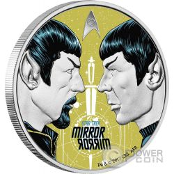 MIRROR MIRROR Specchio Star Trek Original Series 1 Oz Moneta Argento 1$ Tuvalu 2017