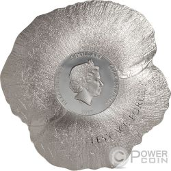REMEMBRANCE POPPY Papaver 1 Oz Silber Münze 5$ Cook Islands 2017