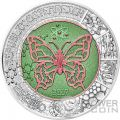MICROCOSM Mikrokosmos Butterfly Niobium Bimetallic Silver Coin 25€ Euro Austria 2017