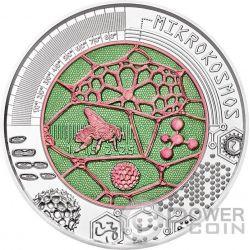 MICROCOSM Mikrokosmos Mariposa Microcosmo Niobio Niobium Bimetalico Moneda Plata 25€ Euro Austria 2017