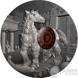 TROJAN HORSE Ancient Myths 2 Oz Moneda Plata 10$ Niue 2016