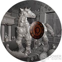 TROJAN HORSE Cavallo di Troia Ancient Myths 2 Oz Moneta Argento 10$ Niue 2016