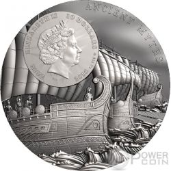 TROJAN HORSE Ancient Myths 2 Oz Silver Coin 10$ Niue 2016