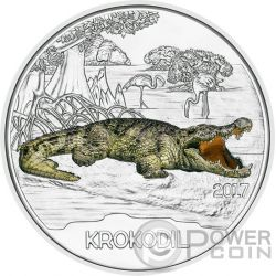 CROCODILE Cocodrilo Colourful Creatures Glow In The Dark Moneda 3€ Euro Austria 2017