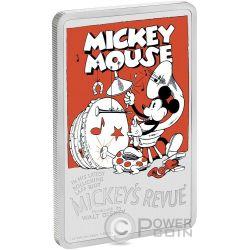 MICKEYS REVUE Rivista Topolino Disney 1 Oz Moneta Argento 2$ Niue 2017