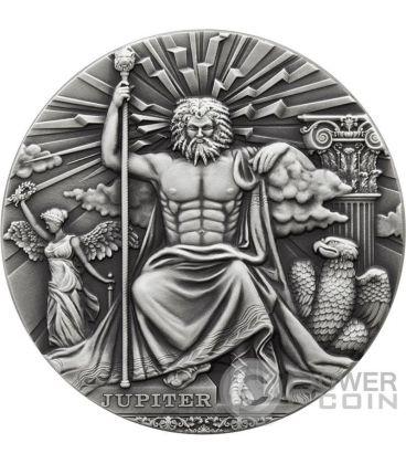 JUPITER Roman Gods 2 Oz Silver Coin 2$ Niue 2016