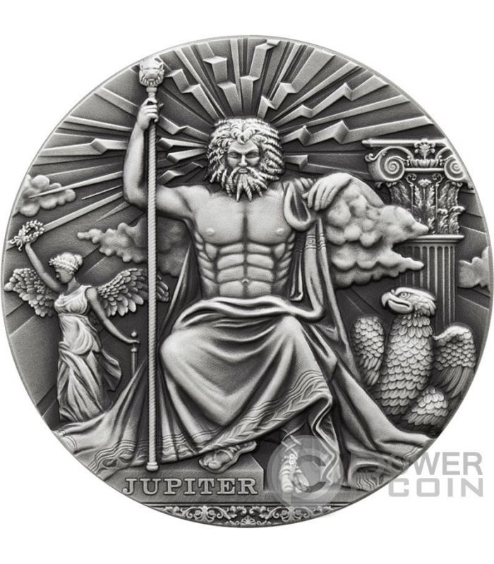 Jupiter Roman Gods 2 Oz Silver Coin 2 Niue 2016 Power Coin