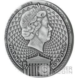 JUPITER Roman Gods 2 Oz Серебро Монета 2$ Ниуэ 2016