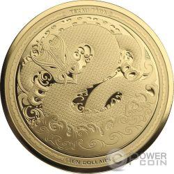 MYTHICAL TANIWHA Maori Tekau Tara Set 2x1 Oz Серебро Монета 1$ Золото 10$ Новая Зеландия  2017