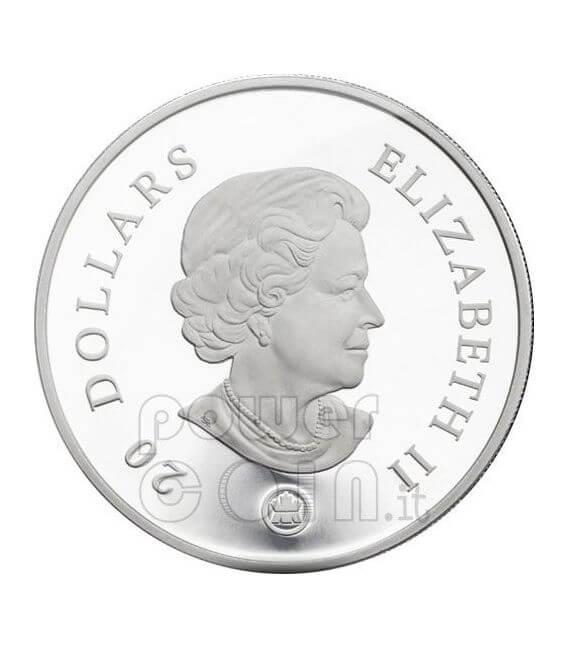 SNOWFLAKE AMETHYST Silver Coin Swarovski 20$ Canada 2008