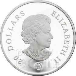 SNOWFLAKE AMETHYST Moneda Plata Swarovski 20$ Canada 2008