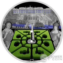 RUSSIAN LABYRINTH Laberinto Ruso Moneda Plata 100 Denars Macedonia 2017