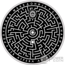 RUSSIAN LABYRINTH Серебро Монета 100 Денар Македония 2017