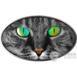 KITTY CAT Gato Animal Skin 1 Oz Moneta Plata 2$ Niue 2017