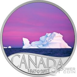 ICEBERG AT DAWN Amanecer 150 Aniversario Moneda Plata 10$ Canada 2017
