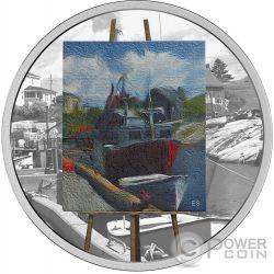 MARITIME MEMORIES En Plein Air 1 Oz Silver Coin 20$ Canada 2017