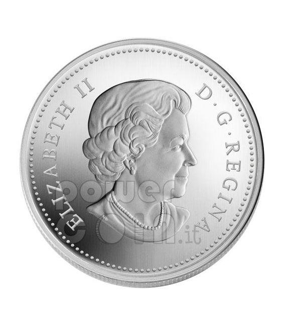 RAINDROP Goccia Di Cristallo Swarovski Moneta Argento 20$ Canada 2010