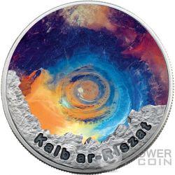 EYE OF THE SAHARA II Ojo del Sahara Color Circle Of Secrets 1 Oz Moneda Plata 2$ Niue 2016