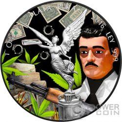 JESUS MALVERDE Freiheit Black Ruthenium 1 Oz Silber Münze Mexico 2016